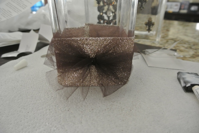 loveleighbeauty-DIY makeup brush-glitter ribbon
